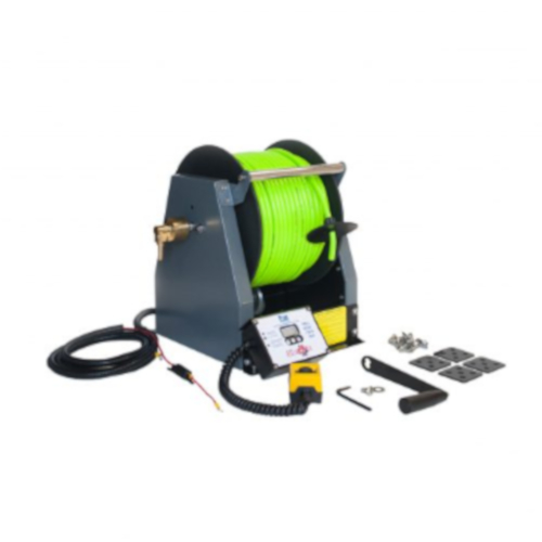 Pure Freedom ReelMaster Hosereel shown with Hi-Vis Green Hose